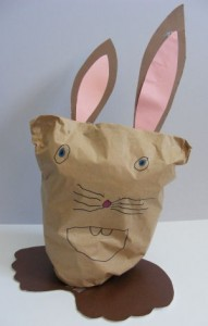 paper bag bunny craft