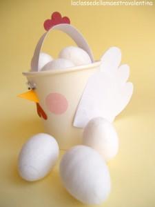 paper cup easter egg basket