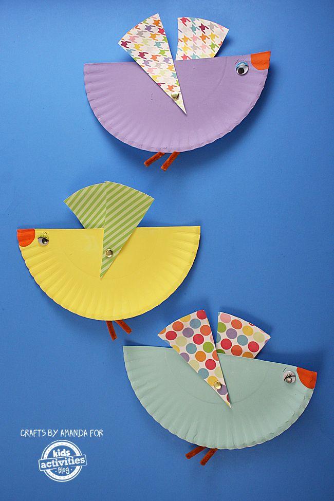 paper plate bird