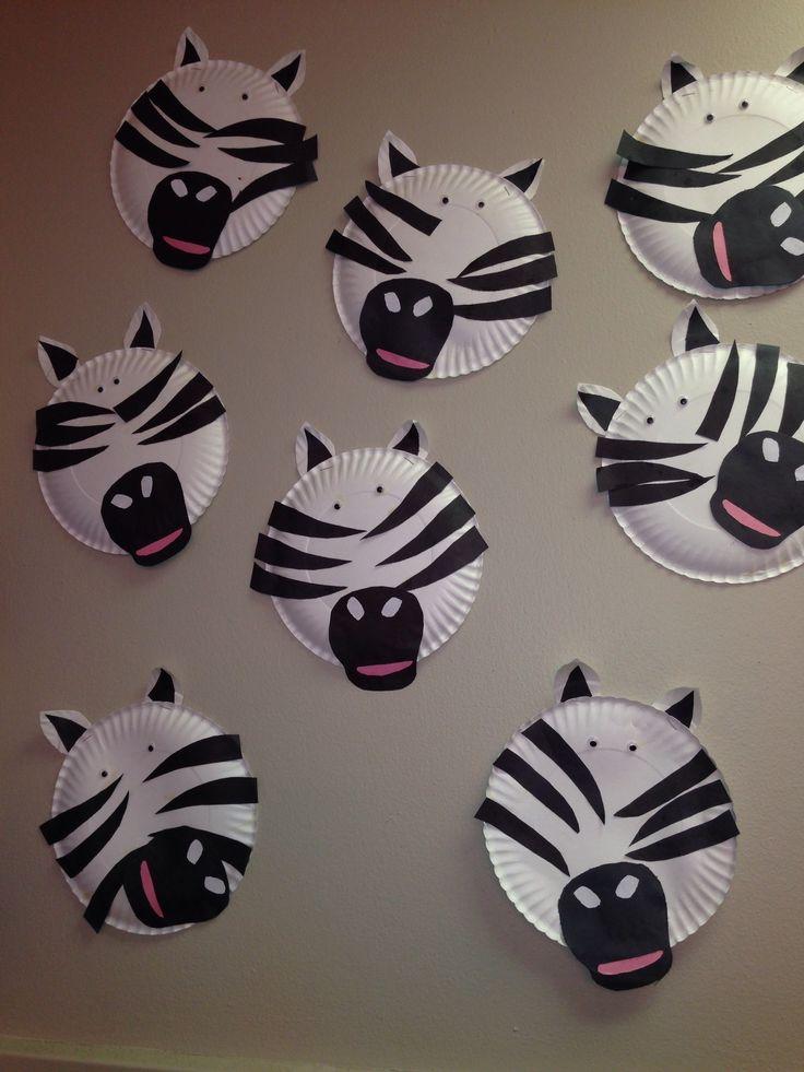 paper plate craft zebra