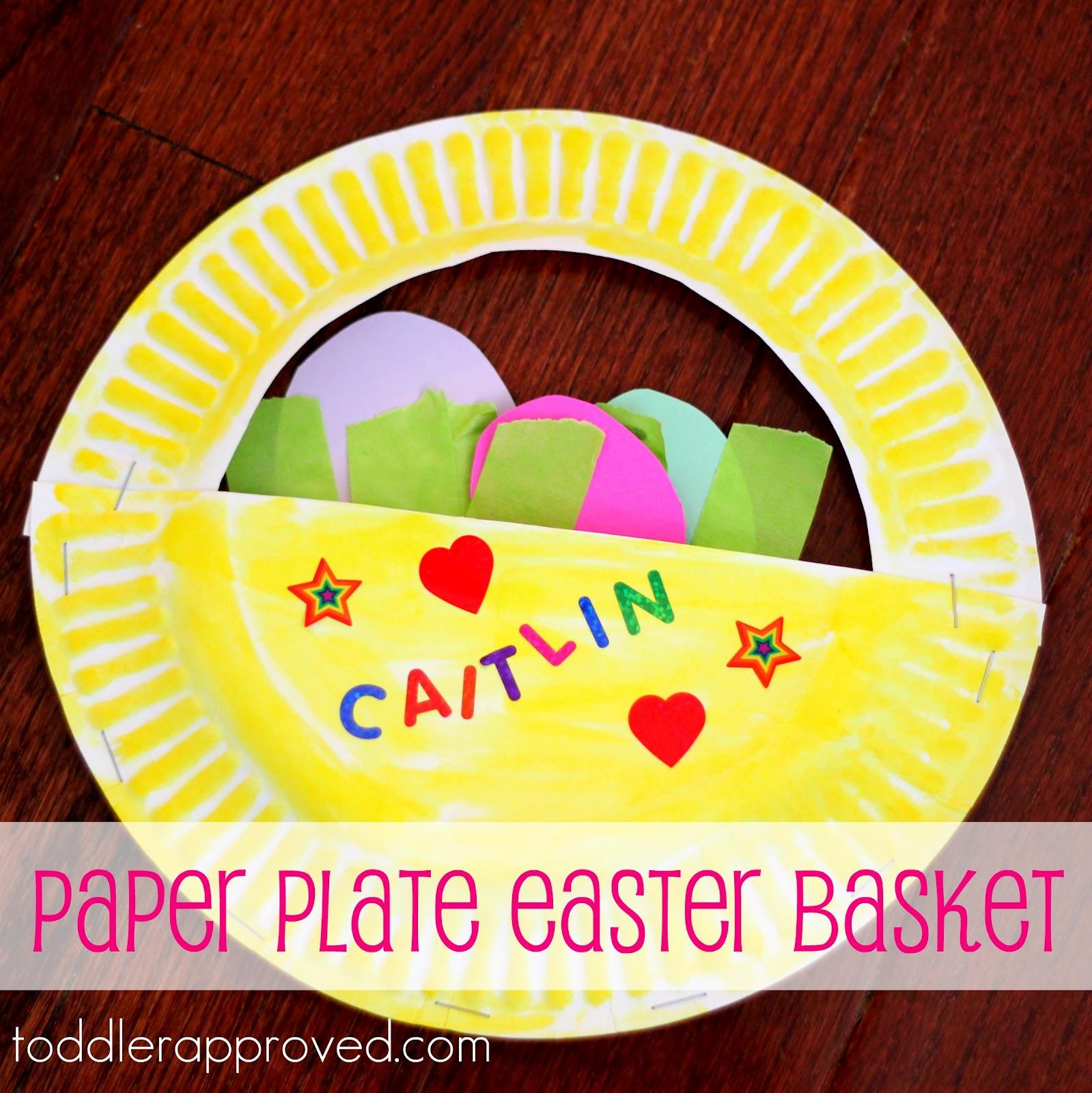 paper plate easter basket craft
