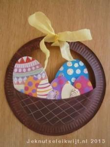 paper plate easter egg basket craft (1)