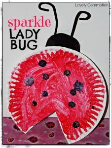 paper plate ladybug