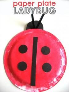 paper plate ladybug crafts