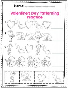 pattern practice for Valentine's day