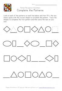 pattern recognition worksheet