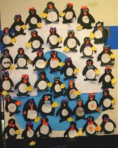 penguin buleltin board