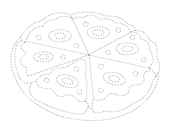 pizza trace worksheet