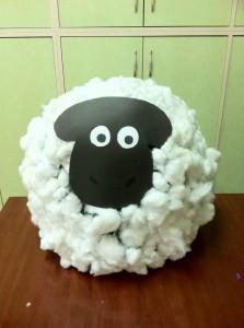 plastic bag sheep bulletin board