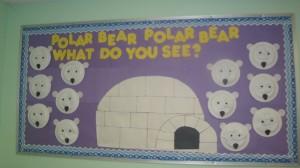 polar bear bulletin board