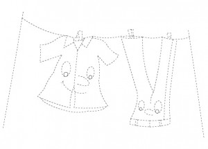 printable clothes trace