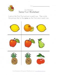 same-fruit-worksheet