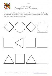 shape patterns worksheet