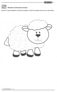 sheep trace line worksheet