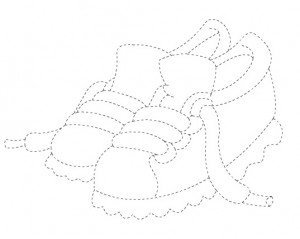 shoes trace worksheet for kids