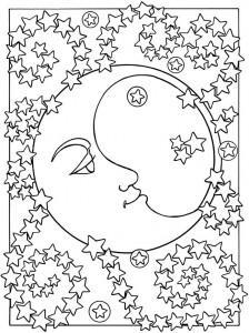 space mandala coloring