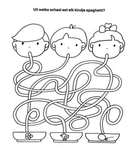 spaghetti trace worksheet