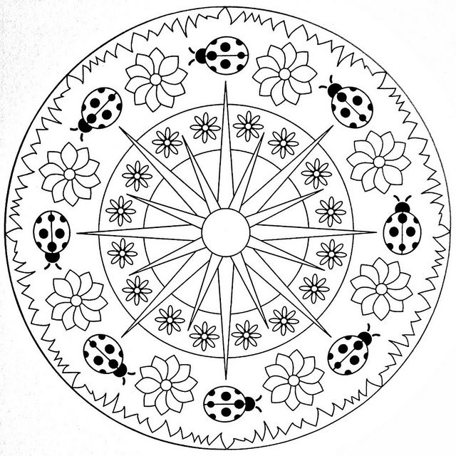 Spring Mandala Coloring Crafts And Worksheets For Preschool
