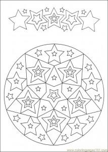 star mandala coloring