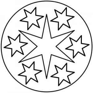star mandala coloring pages for kids