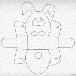 template for easter bunny basket