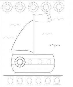 trace boat worksheet