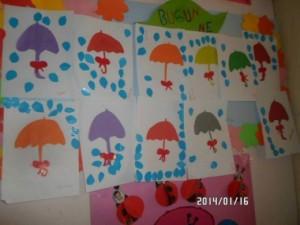 umbrella craft idea for kid