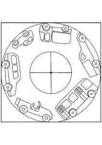 vehicle mandalas