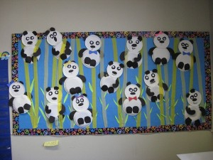 Animals of Asia bulletin board