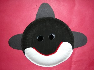 Paper plate orca