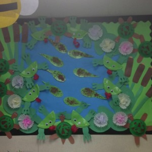 Pond bulletin board