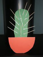 Toothpick Cactus Craft