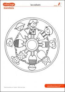 World Thinking Day mandala coloring page (1)