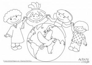 World Thinking Day mandala coloring page (14)