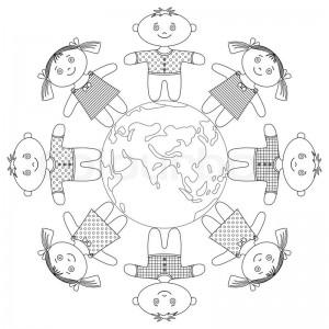 World Thinking Day mandala coloring page (3)