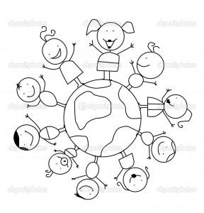 World Thinking Day mandala coloring page (9)