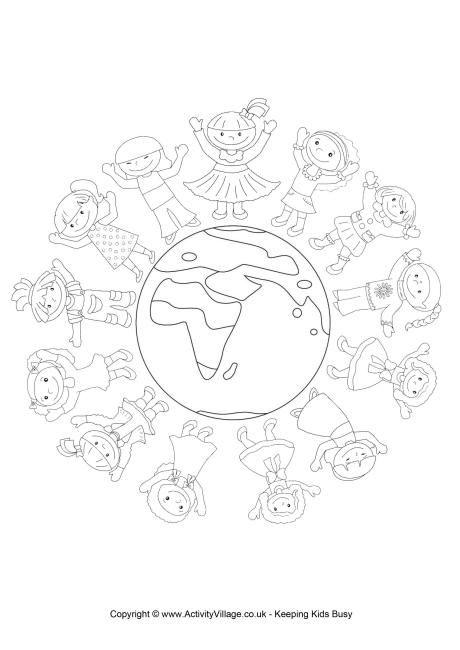 World Thinking Day mandala coloring