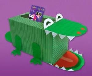 box crocodile craft idea