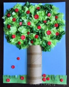 button apple tree craft