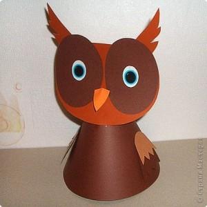cone shaped owl craft