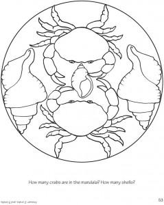 crab mandala coloring