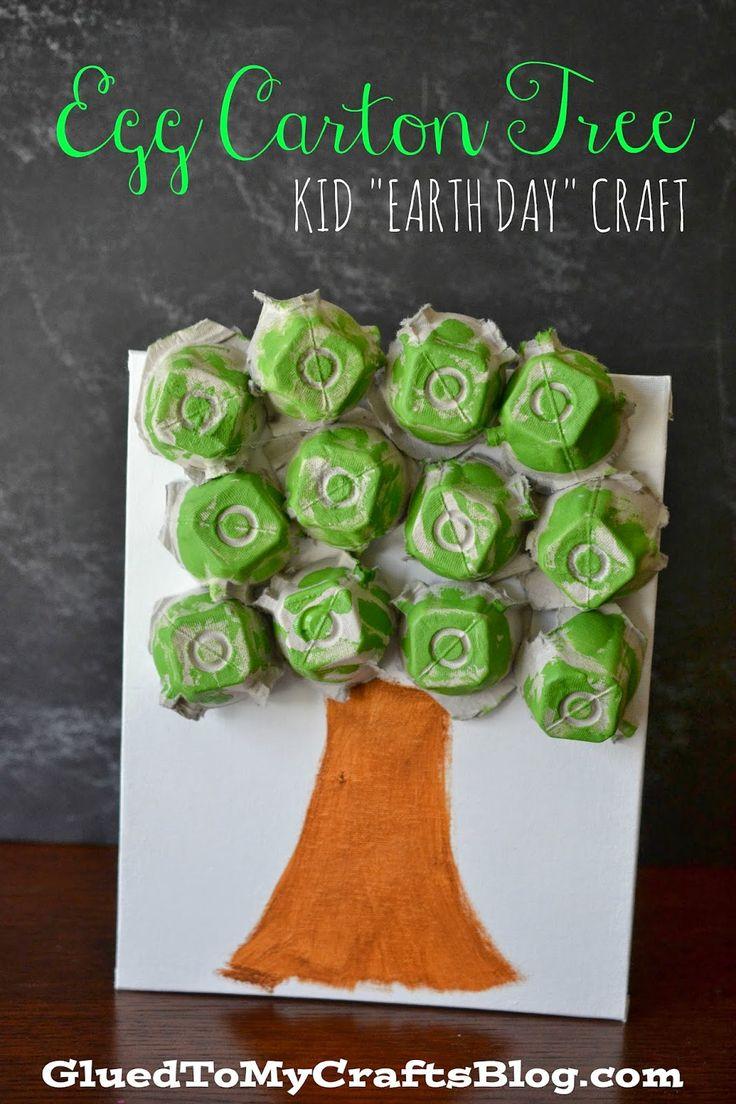 egg carton tree craft