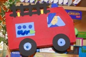 fire truck craft idea
