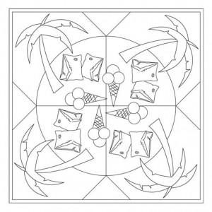 free printable summer mandala coloring (4)