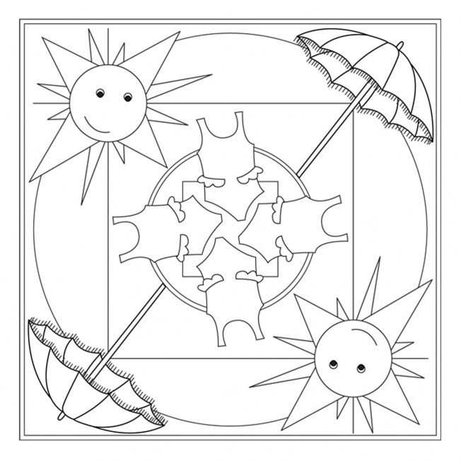 Summer Mandala Coloring Page Crafts And Worksheets For Preschool