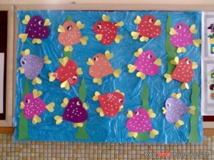 heart fish bulletin board