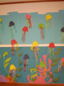 jelly fish bulletin board