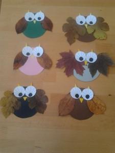 leaf owl craft