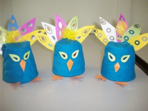 paper cup peacock craft