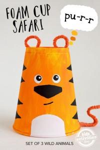 paper cup tiger craft